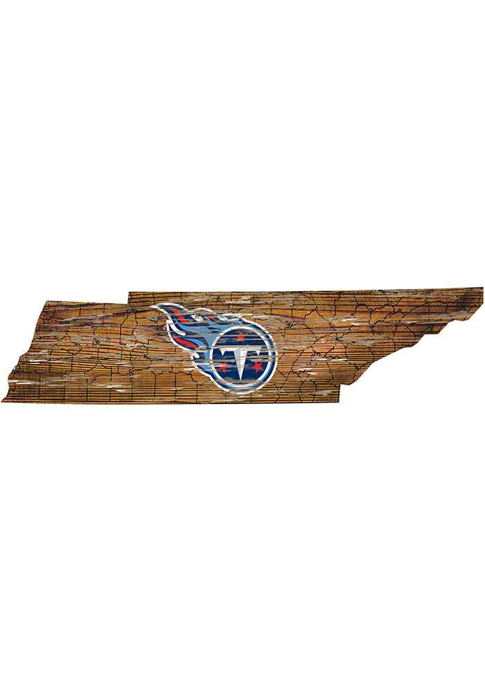 Tennessee Titans Distressed State 24 Inch Sign - Image 1