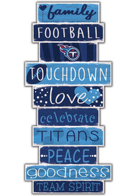 Tennessee Titans Celebrations Stack 24 Inch Sign