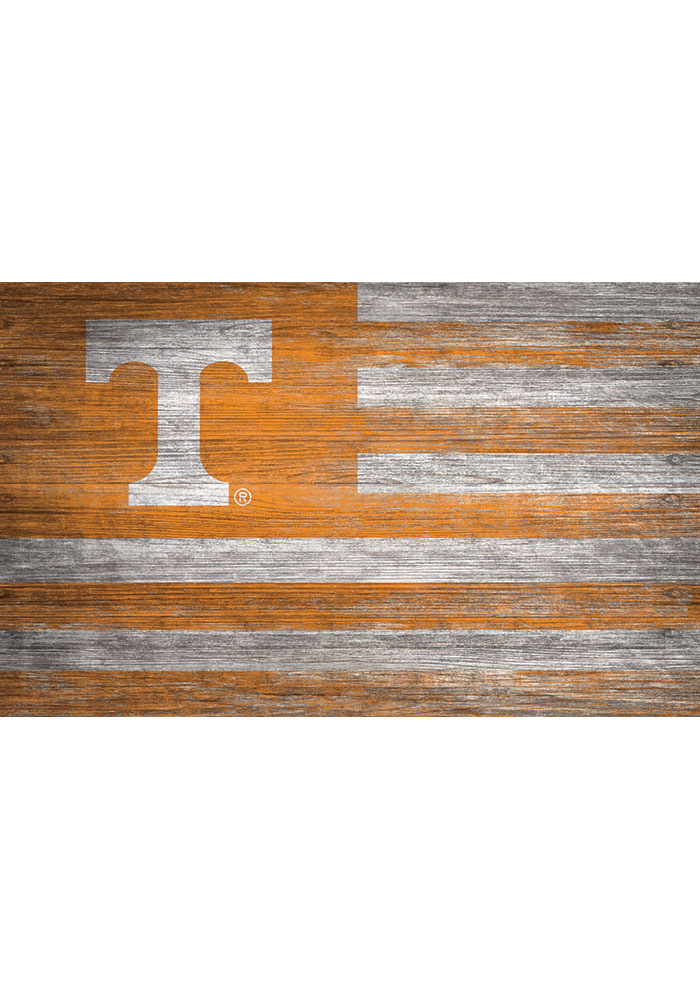 Tennessee Volunteers Distressed Flag 11x19 Sign
