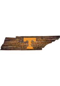 Tennessee Volunteers Distressed State 24 Inch Sign