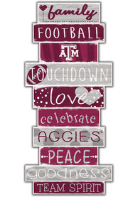 Texas A&M Aggies Celebrations Stack 24 Inch Sign