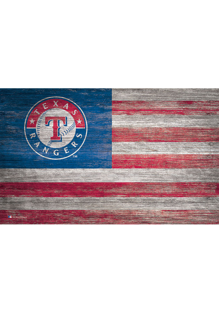 Texas Rangers Distressed Flag 11x19 Sign - Image 1