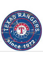 Texas Rangers Established Date Circle 24 Inch Sign