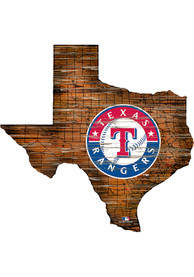 Texas Rangers Distressed State 24 Inch Sign