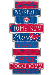 Texas Rangers Celebrations Stack 24 Inch Sign