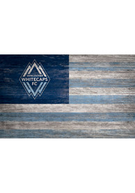 Vancouver Whitecaps FC Distressed Flag 11x19 Sign