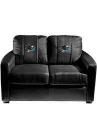 San Jose Sharks Faux Leather Love Seat