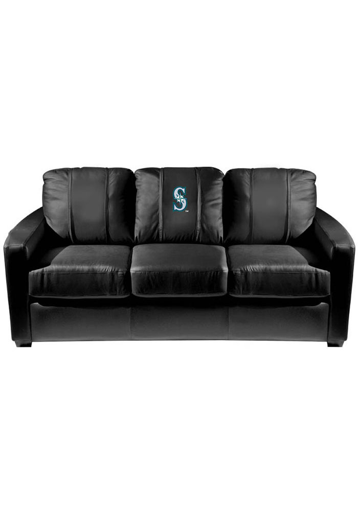 Seattle Mariners Faux Leather Sofa - 3262337