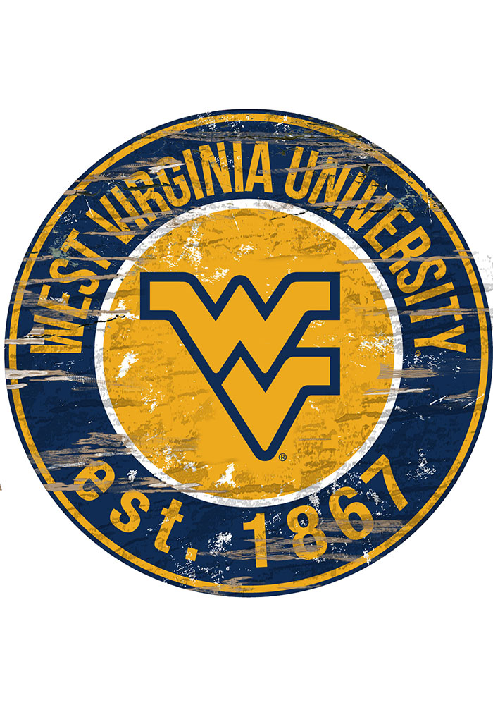 West Virginia Mountaineers Established Date Circle 24 Inch Sign - Image 1