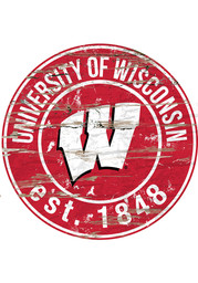 Wisconsin Badgers Established Date Circle 24 Inch Sign