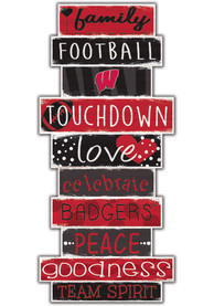 Wisconsin Badgers Celebrations Stack 24 Inch Sign