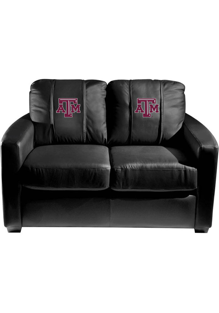 Texas A&M Aggies Faux Leather Love Seat - Image 1
