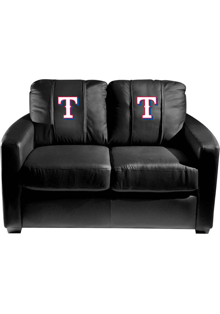 Texas Rangers Faux Leather Love Seat - Image 1