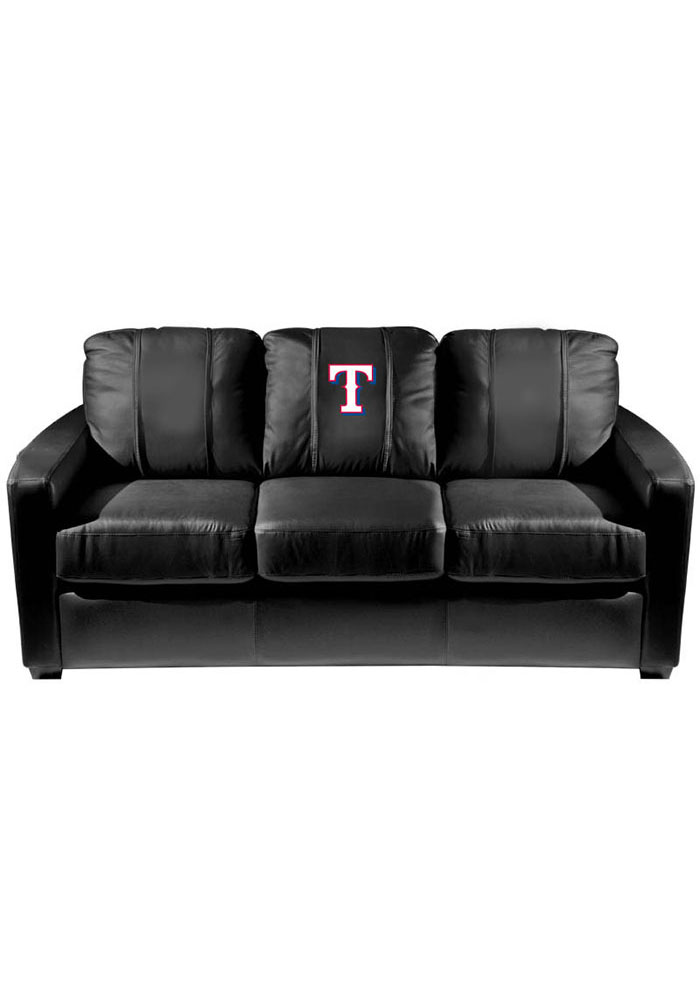 Texas Rangers Faux Leather Sofa - Image 1