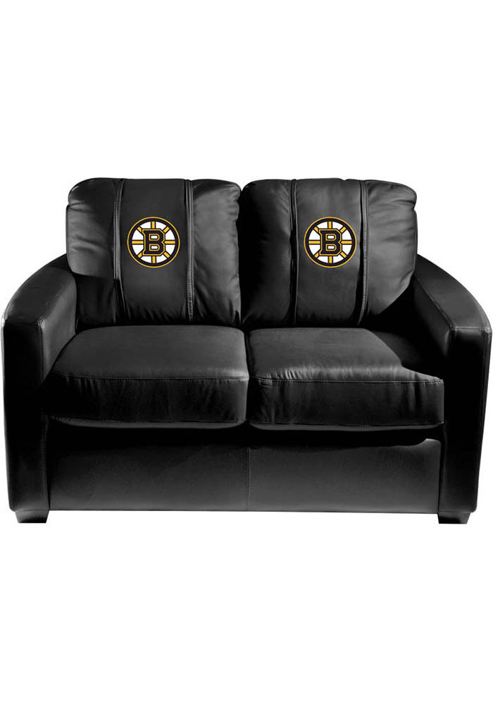Boston Bruins Faux Leather Love Seat - Image 1