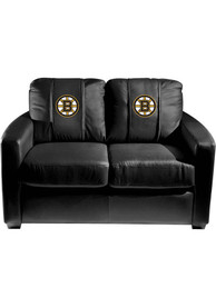 Boston Bruins Faux Leather Love Seat
