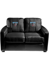 Maine Black Bears Faux Leather Love Seat