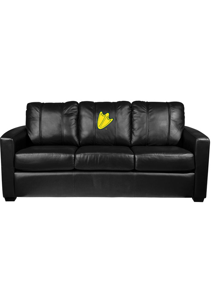 Oregon Ducks Faux Leather Sofa - Image 1