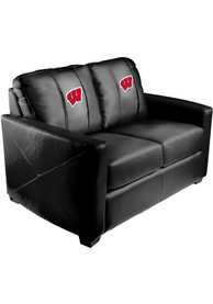 Wisconsin Badgers Faux Leather Love Seat