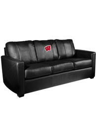 Wisconsin Badgers Faux Leather Sofa