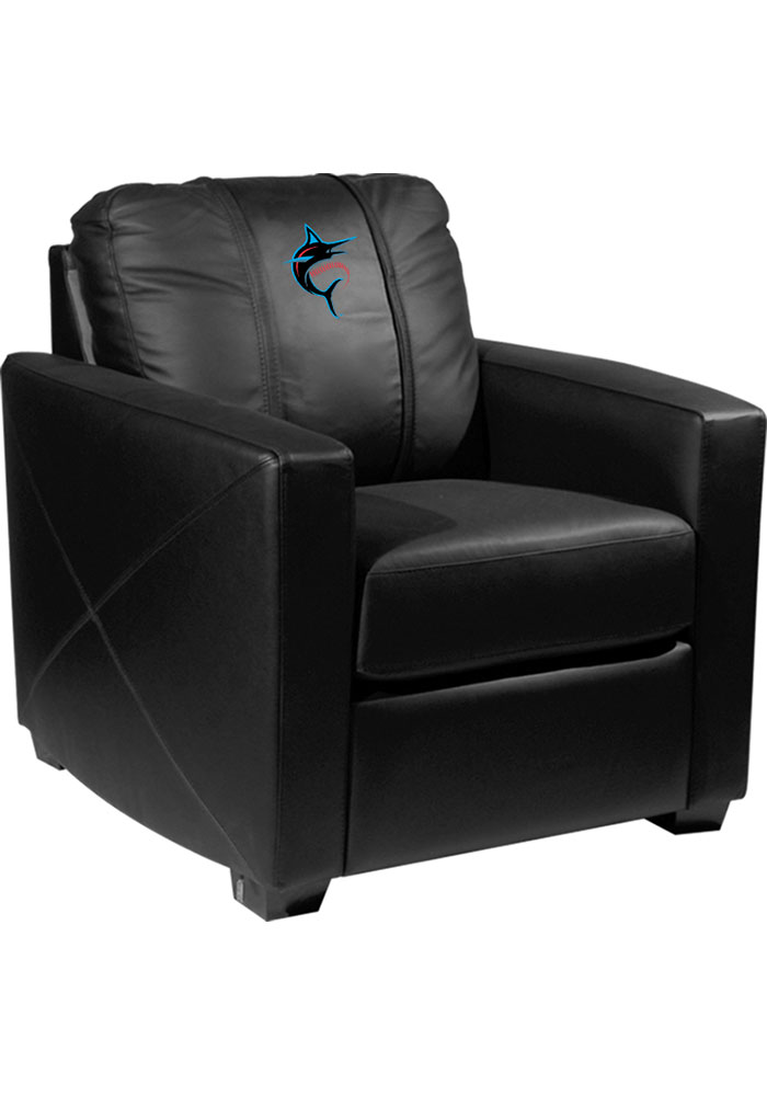Miami Marlins Faux Leather Club Desk Chair - Image 1