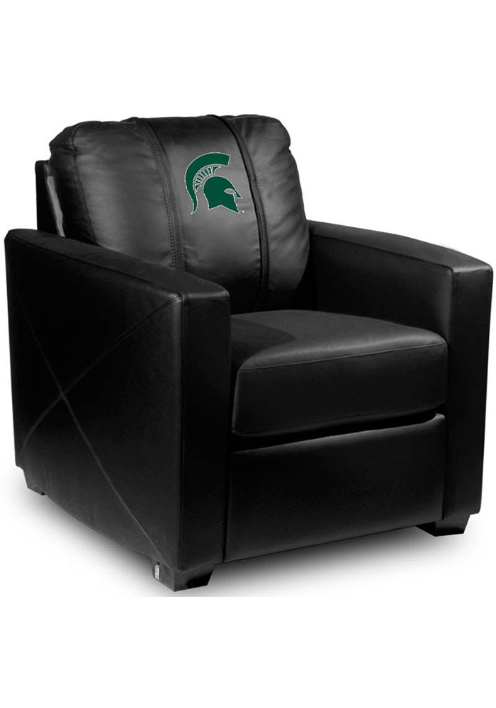 Michigan State Spartans Faux Leather Club Desk Chair - Image 1