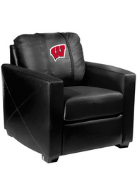 Wisconsin Badgers Faux Leather Club Desk Chair