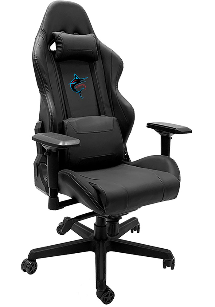 Miami Marlins Xpression Black Gaming Chair - Image 1