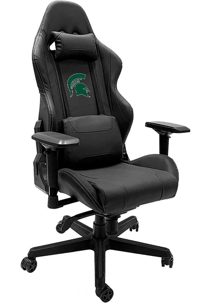 Michigan State Spartans Xpression Black Gaming Chair - Image 1