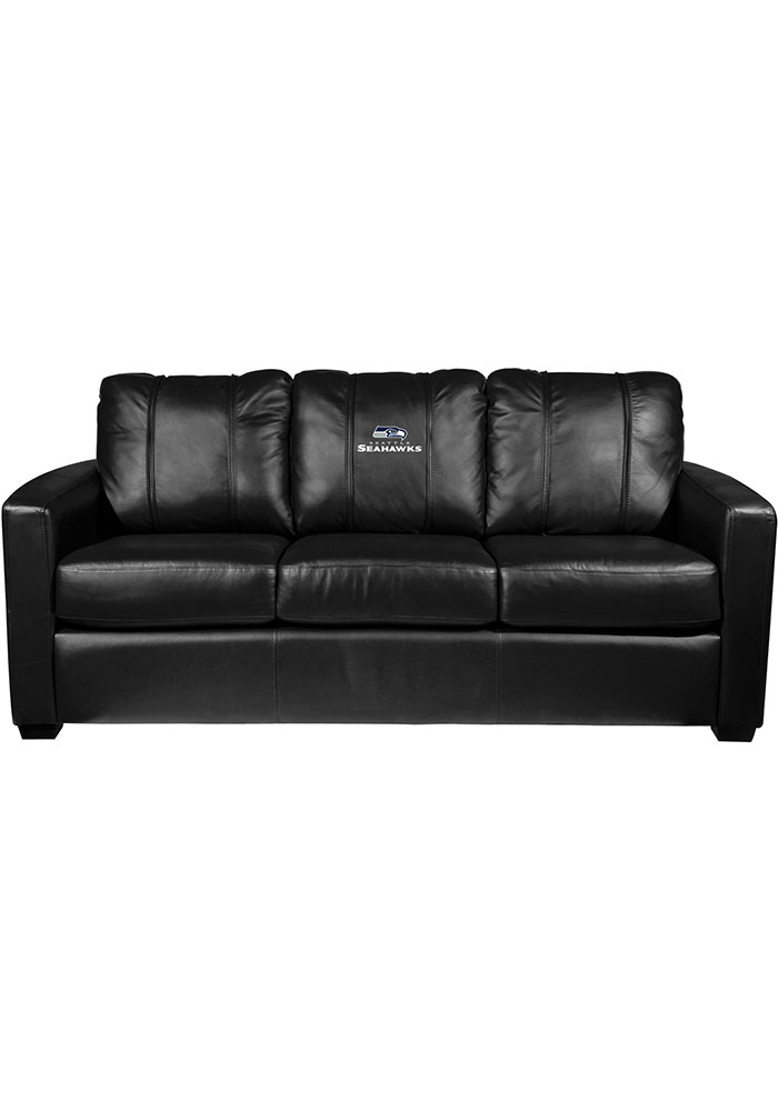 Seattle Seahawks Faux Leather Sofa - Image 1