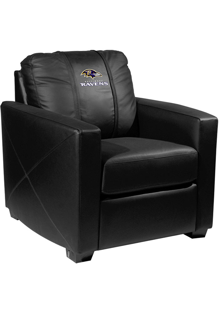 Baltimore Ravens Faux Leather Club Desk Chair - Image 1