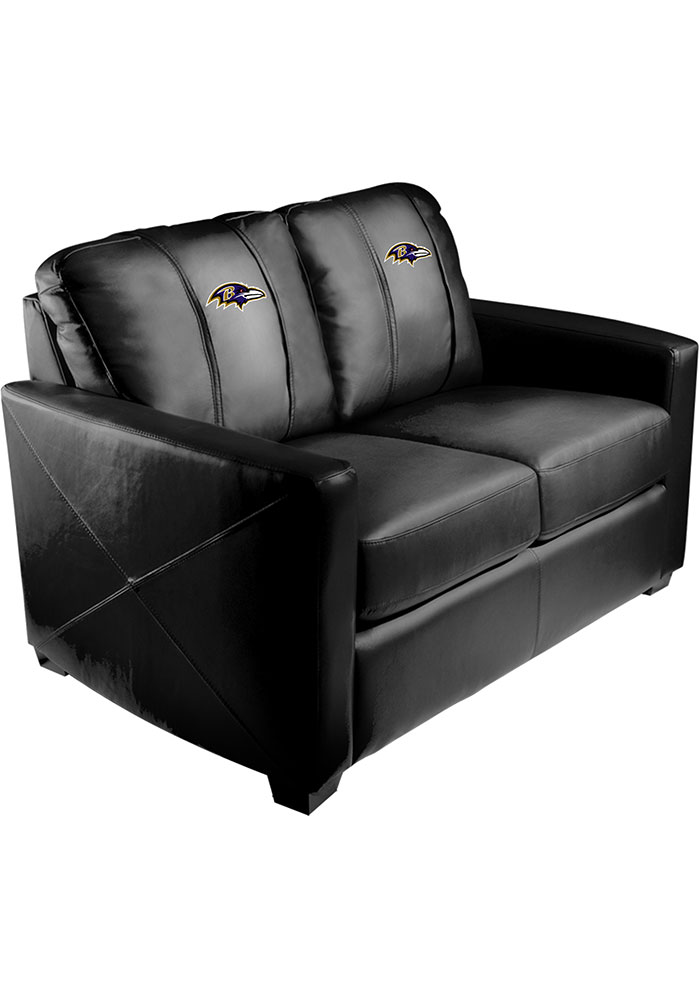 Baltimore Ravens Faux Leather Love Seat - Image 1