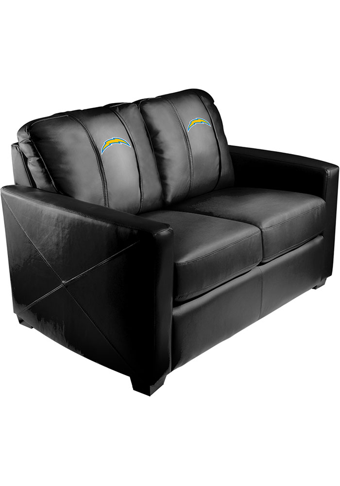 Los Angeles Chargers Faux Leather Love Seat - Image 1