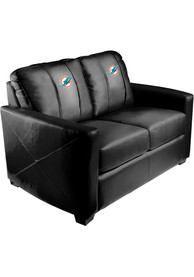 Miami Dolphins Faux Leather Love Seat