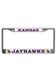 Kansas Jayhawks White Domed Team Name License Frame