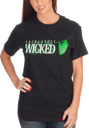 Wizard of Oz Womens Black Absolutely Wicked Short Sleeve T Shirt