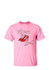 Wizard of Oz Womens Pink Will Work for Shoes Short Sleeve T Shirt