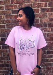 Wizard of Oz Womens Pink Good Witch Short Sleeve T Shirt