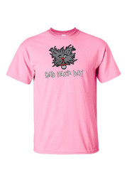 Wizard of Oz Girls Pink Toto Bad Hair Day Short Sleeve T Shirt