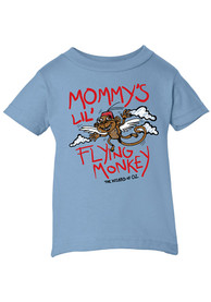 Wizard of Oz Toddler Light Blue Mommy's Lil Flying Monkey Short Sleeve T Shirt