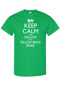 Wizard of Oz Womens Green Keep Calm Short Sleeve T Shirt