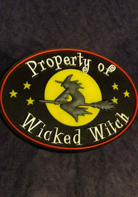 Wizard of Oz Property of Wicked Witch Magnet