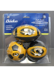 Missouri Tigers 4 Inch 3 Pack Soft Touch Softee Ball
