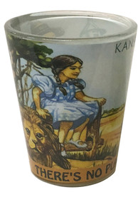 Wizard of Oz Theres No Place Like Home Shot Glass