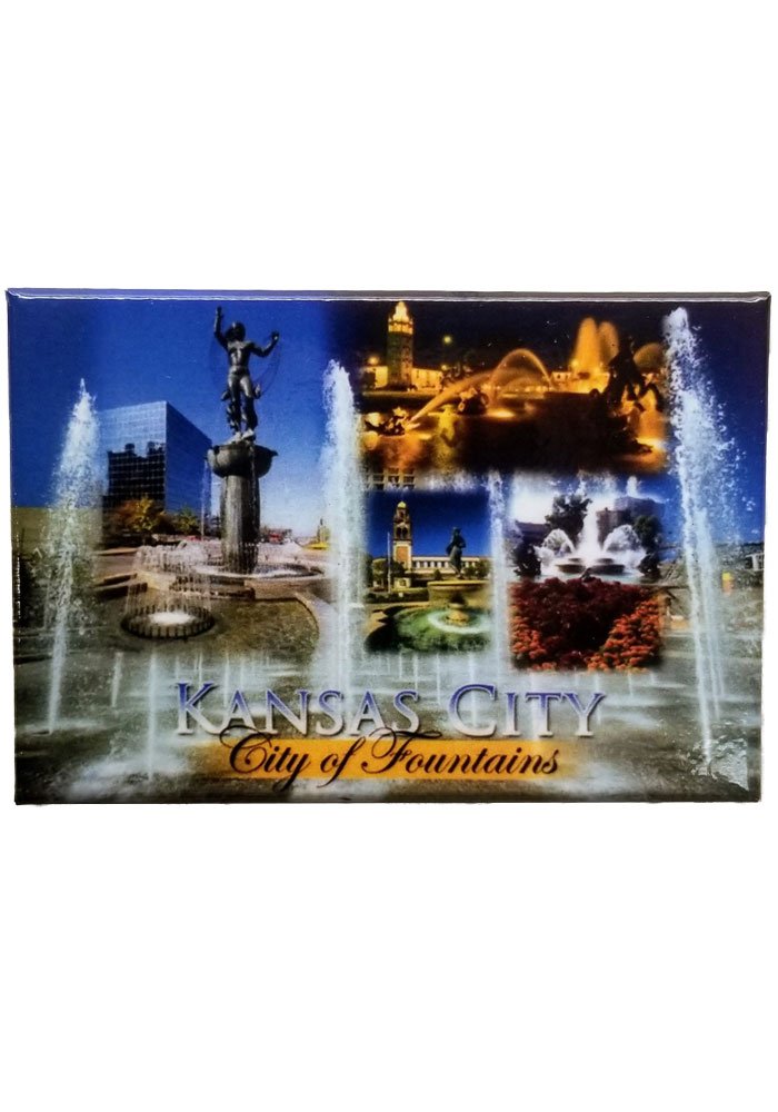Kansas City City of Fountains Magnet - Image 1