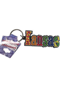 Kansas Colorful Rubber Keychain