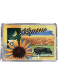 Kansas Sunflower Collage Playing Cards