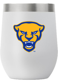 Pitt Panthers Team Mascot 12oz Stemless Stainless Steel Tumbler - Grey
