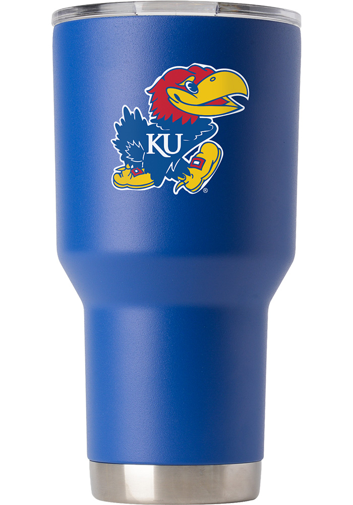 Kansas Jayhawks Team Logo 30oz Stainless Steel Tumbler - Blue