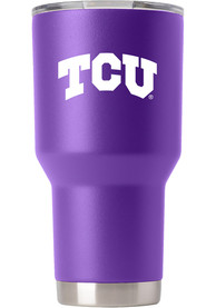 TCU Horned Frogs Team Logo 30oz Stainless Steel Tumbler - Purple